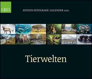 GEO Edition: Tierwelten 2022 - Wand-Kalender - 70x60,