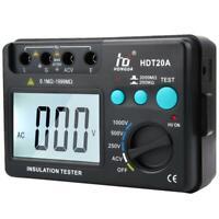 Testeur de résistance d'isolement numérique HDT20A Mégohmmètre 250/500 /