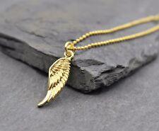 Feder Engelsflügel Halskette Kette Engel Flügel Anhänger Schmuck in Gold BOHO