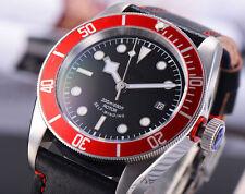 41mm Corgeut Saphirglas Aluminium rot Lünette Mechanische Automatik Uhr 033