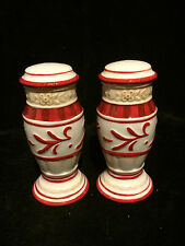 Fitz Floyd Town and Country Salt and Pepper Set w/ 2/3 Holes