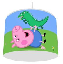 Peppa pig childrens lampshades ebay peppa pig george dino light lampshade kids room matches duvet set free pp aloadofball Image collections