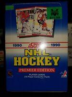 1990 Score NHL Hockey Hobby Wax Box English 36 Packs Brodeur & Jagr RC Sealed