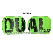 Dual BRAND Snowboards Classic Set of 2pc Two Color Selections Green Logo on Black Deck