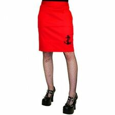 Cotton Blend Straight, Pencil Machine Washable Solid Skirts for Women