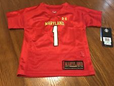 Under Armour Maryland Terrapins Football Jersey Toddler 18 Months Red NWT