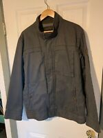 Timberland Men's Earthkeepers Collection Jacket Distress Gray Bomber Size Large