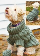 (786) Dog Sweater Knitting Pattern - Cosy Cables