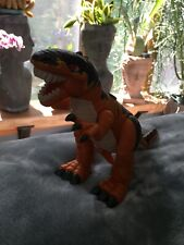 Vintage Dinosaur T-Rex Action Figure~Lever Moves Arms~Plastic Jointed Limbs/Tail