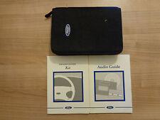 Ford Ka Owners Handbook/Manual and Wallet 98-03