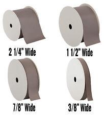 "Grosgrain Ribbon 3/8"",7/8"",1 1/2"",2 1/4"" widths 10 yd rolls 25 colors"