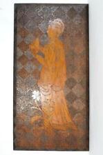 More details for antique pokerwork plaque of dante alighieri reading c1900s