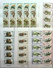 KONGO BRAZZAVILLE 1971 291-98 U 243-50 5x Reptilien Reptiles Snakes Schlangen
