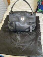 Yves Saint Laurent Ysl Muse 2 Black Leather And Canvas Bag