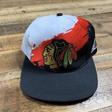 Vintage Chicago Blackhawks Splash Snapback Hat Cap 90s