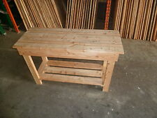 Wooden Work Bench 1.2m long (4ft) great for garage   FREE P&P by Gardenlarch