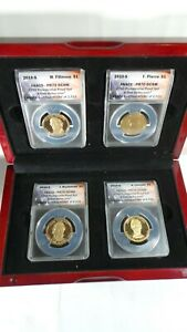 Set of (4) 2010- S   Presidential Dollar Proofs - ANACS PR70 DCAM FIRST  STRIKE