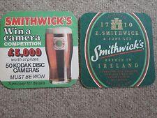 Beer mats coaster drip SMITHWICK'S BEER IRELAND IRISH Kilkenny job lot