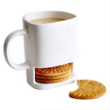 8.8oz Dunk Ceramic Cookies Cookie Coffee Mug Cup with Biscuit Pocket Holder U7H7
