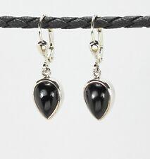 Ohrringe / Ohrhänger aus Silber 925  mit Onyx / Sterlingsilber