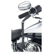 "New Black Solid Leather Motorcycle Lever Covers Brake Clutch Biker 12"" Fringe"