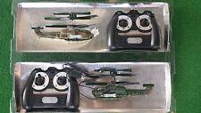 AIR RAPTOR Set mit 2 ferngesteuerten HELICOPTERN Hubschrauber GYRO für Bastler
