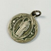 Vintage Religious Medal Pendant Pope Benedict Cross Catholic Priest Medallion