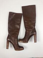 KORS Michael Kors Size 8 Brown Aila Leather Heeled Knee High Boots