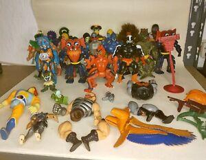 Vintage Mattel MOTU 1980's He Man Action Figures Accessories Bundle Job Lot x25