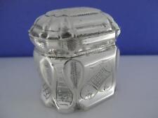Wondeful Old Dutch .833 Silver Trinket / Pill Box w/ engraved panels ~hallmarked