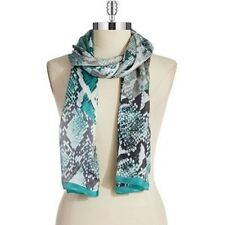 """VINCE CAMUTO """"COLORBLOCK PYTHON' 100% Silk SCARF / WRAP 18 x 72 in."""