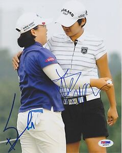 YANI TSENG JIYAI SHIN SIGNED AUTO'D 8X10 PHOTO POSTER PSA/DNA COA LPGA TOUR