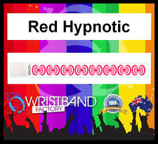 100 x Tyvek Red Hypnotic Party Function Event Rave Festival Security Wristbands