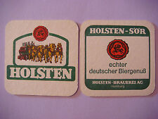 Beer Bar COASTER: Holsten-Brauerei ~ Hamburg, GERMANY * Add'l Coasters $0.25 S&H