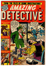 AMAZING DETECTIVE #9 6.5 TAN TO CREAM PAGES GOLDEN AGE