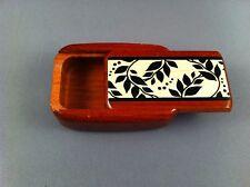 Rosewood Snuff Box - Leaf Design