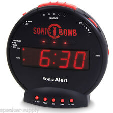 EXTREMELY SUPER LOUD Sonic Bomb Alarm Clock Vibrating Bed Shaker 113dB Really