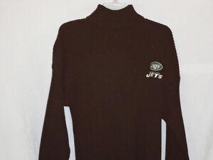 New York Jets sweater-Turtle Neck-Medium-Classic team gear-Rare-J-E-T-S