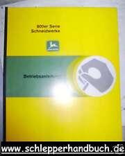 John Deere Z-Serie 1100er Mähdr. Schneidwerk Anleitung