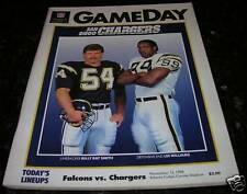 1988 SAN DIEGO CHARGERS vs ATLANTA FALCONS NFL PROGRAM in Excellent condition