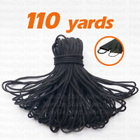 110yards Black 1/8inch Round Elastic Band Cord Ear Hanging Sewing For DIY Masks