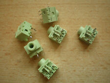3.5mm stereo replacement jack socket PCB green pack of 6    Z21