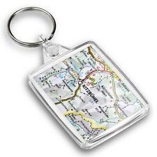 IP02 Passport Keyring  - Kitzbuhel Austria Town Europe Travel Map  #45478