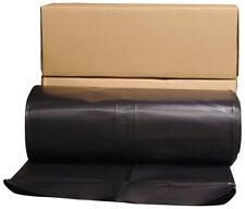 Plastic Sheeting Roll Black 24 x 100 ft. Vapor Moisture Barrier Sheet 6mm Cover