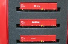 Rivarossi HO 6181 Wagenset 3 Hochbordwagen Eaos der DB Cargo Schenker Railion