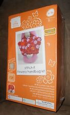 The Little Experience Stitch-it Flowery Handbag - Ages 6-16 - Brand NEW