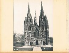 TWO PHOTOGRAPHS/PRINTS LICHFIELD CATHEDRAL C1903