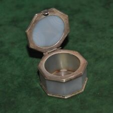 Ottoman Persian isalmic mughal agate n silver jewellery box qing dynasty no kard