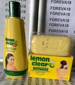 LEMON CLEAR PLUS FAST SKIN LIGHTENING LOTION & SOAP. (FOREVA18)