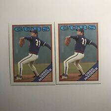 Greg Maddux Topps 1988 MLB #361 Raw Lot of 2 Baseball Cards Chicago Cubs